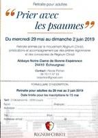 Retraite avec Regnum Christi à Echourgnac, 29-05-2019
