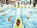 David Moïse à la piscine