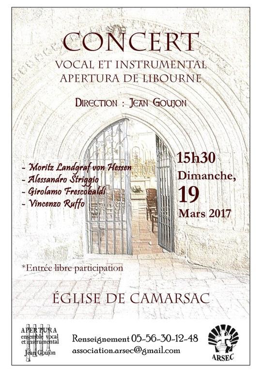 Arsec Concert Camarsac du 2017-03-12