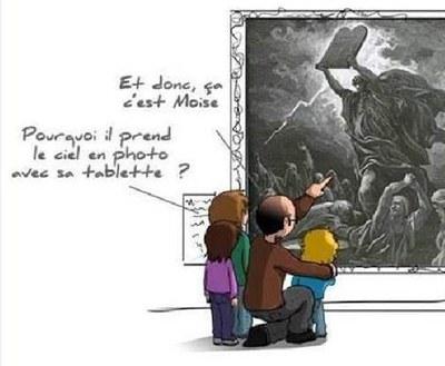 Moise avait une tablette