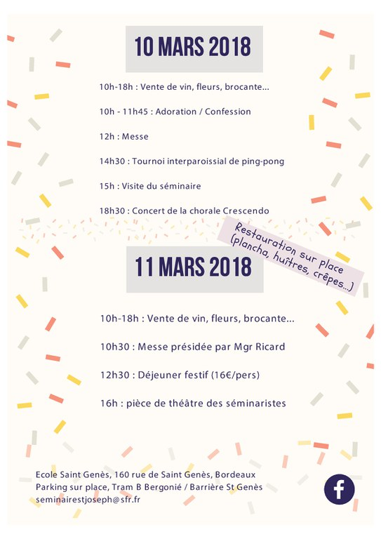 Kermesse séminaire 2018-03 C