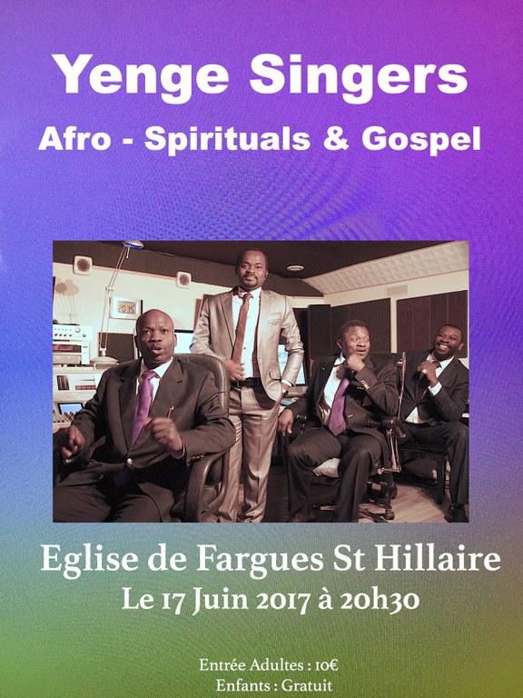 Concert du groupe Yenge Singers 2017-06-17 Spirituals et Gospel