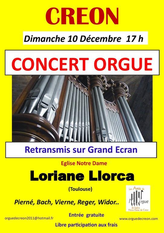 Concert d'orgue à Créon 2017-12-10