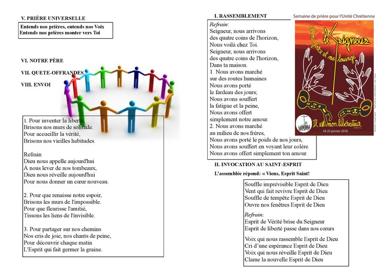Feuille chant Unité 2018 page1