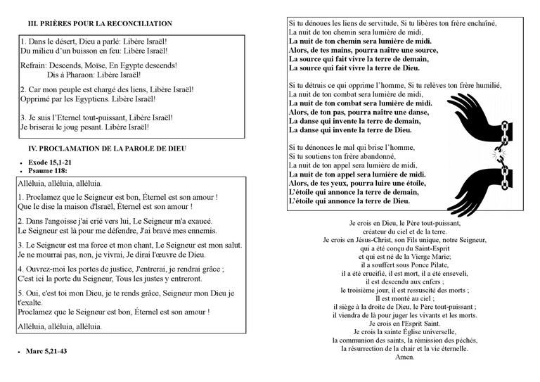 Feuille chant Unité 2018 page2