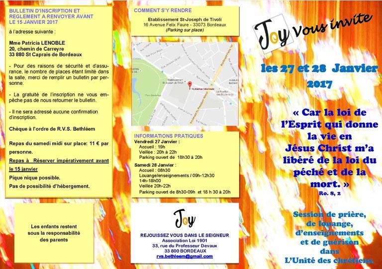 Flyer Lenoble JOY Bethléem 2017-01-27 A