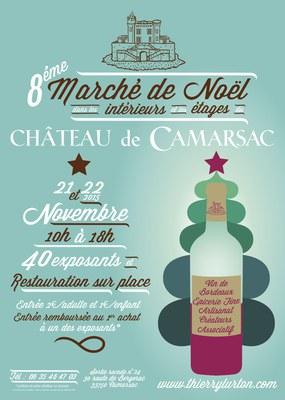 Affiche Marché de Noël Camarsac 2015